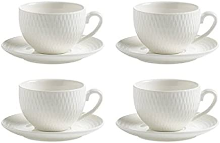 Preisvergleich für Maxwell & Williams 4er Set Espressotassen mit Untertasse Diamonds Round weiß