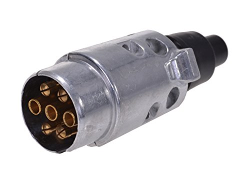 timtinaCaravana Remolque 7–Polos Conector Macho de Metal (sin Conector Plana)