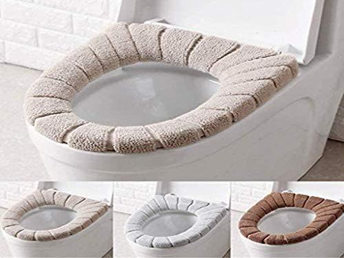 Anlising - Juego de 3 fundas para asiento de inodoro, lavables, cálidas, suaves, gruesas, elásticas, lavables, lavables