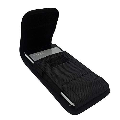 ABCTen Gürteltasche für Xiaomi Redmi Note 8 Pro Blackview BV9600 Plus Handy Schutzhülle Holster Universal für Huawei P Smart+ / Mate 20 Lite Nylon Vertikal/Horizontal Schutzhülle mit Haken