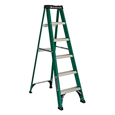 Louisville Ladder FS4006 225-Pound Duty Rating Fiberglass Step Ladder, 6-Foot