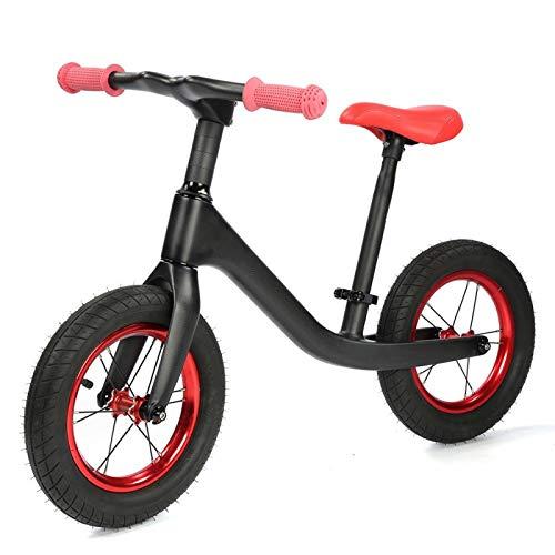 Pwshymi Bicicleta sin Pedales Bicicleta de Equilibrio de Metal Super Junior para Entrenamiento Deportivo para Juegos Deportivos al Aire Libre(Bright Light)