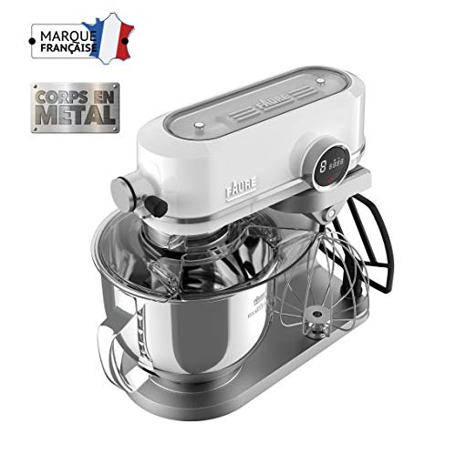 Faure FKM-902ME1 Robot Pâtissier Magic Baker Excellence - 800W transmission directe - Mouvement Planétaire - Bol Inox 5,2L - Coloris Blanc
