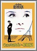 ポスター アーティスト不明 オードリー・ヘプバーン パリの恋人 額装品 アルミ製ベーシックフレーム(ブラック)