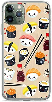 Phone Case Kawaii Sushi Compatible with iPhone 6 6s 7 8 X Xs Xr 11 12 Pro Max Mini Se 2020 Anti product image