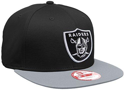 New Era Oakland Raiders Grablk Gorra, Unisex, Negro/Gris, M-L