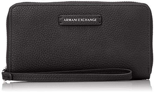 ARMANI EXCHANGE Fabric Round Zip - Borsette da polso Donna, Blu (Navy), 11x2x20 cm (B x H T)