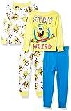 Nickelodeon Boys' Snug Fit Cotton Pajamas, Stay Weird, 6