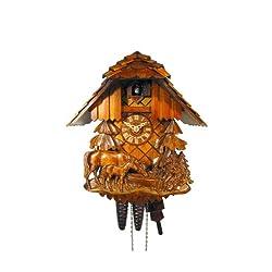 August Schwer Cuckoo Clock Relif, Horse, Child 1.0457.01.C