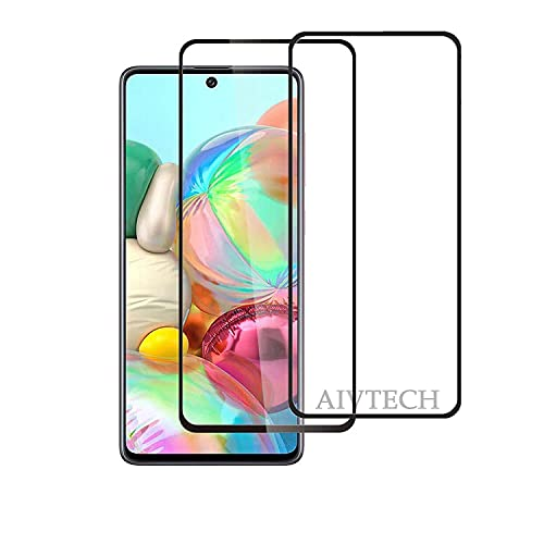 Aiv Tech Tempered Glass, Screen Guard For Samsung Galaxy A71 With Edge To Edge Full Screen Coverage| Oleophobic Coating | Ultra HD+ |With Easy Installation Kit (PACK OF 2)