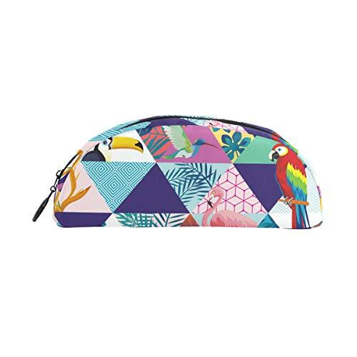 Bonipe Tropical Flamingo Toucan Parrot matita della penna borsa porta portamonete cosmetici trucco per trave ufficio