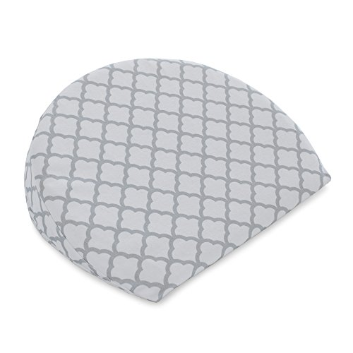 Boppy Pregnancy Wedge, Scallop Trellis Gray and White, Maternity Wedge with removable...