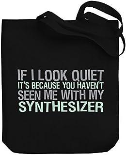 Bolsa de la compra de Valentine Herty ItS Because You HavenT Seen Me With My Synthesizer de lona