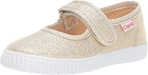 Cienta Kids Shoes Baby Girl's 56083 (Infant/Toddler/Little Kid/Big Kid) White Gold 21 (US 5 Toddler)