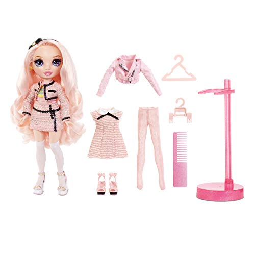 Rainbow High Bambola alla Moda Bella Parker, Bambola in Rosa, Abiti, Accessori e Piedistallo per Bambole alla Moda Rainbow High Serie 2, Regalo Ottimo per Bambine dai 6 Anni in Su
