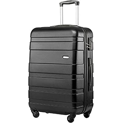 Merax Hard Shell Carry On Cabin Hand Luggage Suitcase with 4 Wheels