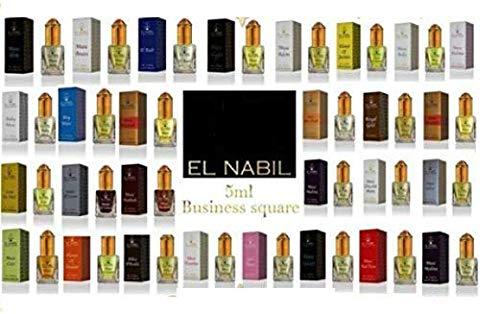 El Nabil 5ml Véritable Attar Parfum Sans Alcool Musk Oud Roll Haute Qualité (Slim)