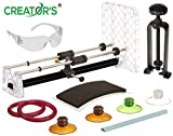 Creator's Ultimate Glass Bottle Cutter Bundle - Super Suite W/Black Bottle Neck Cutter - Includes 4 Glastoppers - Abrasive Stone and More - Number 1 Best DIY Bottle Cuttting System - Made in The USA