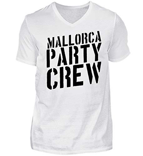 Mallorca Party Crew - Lustiges Saufen Feiern Sprüche T-Shirt für Partyurlaub auf Malle - Herren V-Neck Shirt