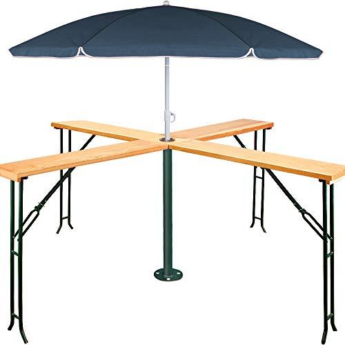 Deuba - Table Haute Pliante en Bois - Table de Reception - Table Bar Quattro - 20 Personnes - Anniversaire, gardenparty, fête