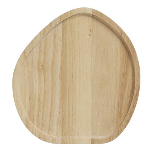 Stanley Rogers Tabla para servir de 25 cm de diámetro, tabla para queso, tabla de madera de alta calidad, tabla de cortar versátil, tabla para servir queso, tabla redonda para pan (color marrón)