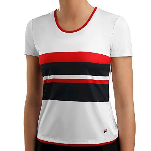 Fila dames, Samira T-shirt wit, blauw, XL bovenkleding