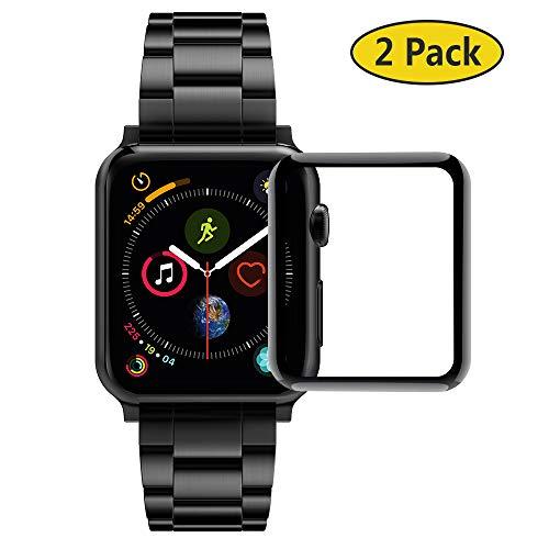 GeeRic 2X Protector de Pantalla Compatible para Apple Watch 44mm Series 4 & 5 Templado 3D Curved Edge 9H Dureza Compatible para Apple Watch Series 4 &5 44mm