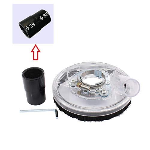 Deurreli 研削用集塵カバー 集塵アタッチメントカバー 4インチ 5インチ乾式粉砕機 41mm-54mm 取り外し可能