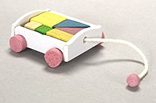 Dollhouse Miniature Wagon with Blocks