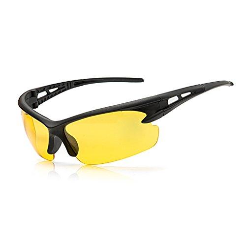 Sonnenbrille zum Radfahren, UV-Schutz, polarisierte Brille gelb