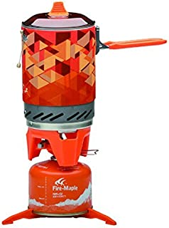 Fire-Maple Star FMS-X2 Outdoor Cooking System Portable Camp Stove with Piezo Ignition Pot Support & Stand - Ultralight Compact Windproof High Heating Efficiency - Propane & Butane Canisters - Camping
