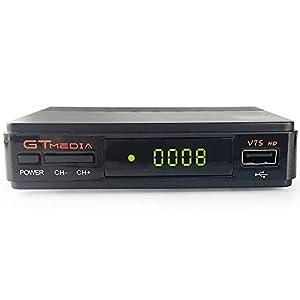 GT MEDIA V7S HD Receptor Satélite DVB-S/S2 Decodificador de TV por Satelite con Antena WiFi USB, 1080P Full HD Soporte PVR CCcam Youtube Astra 19.2E (Freesat V7 HD Mejorada)