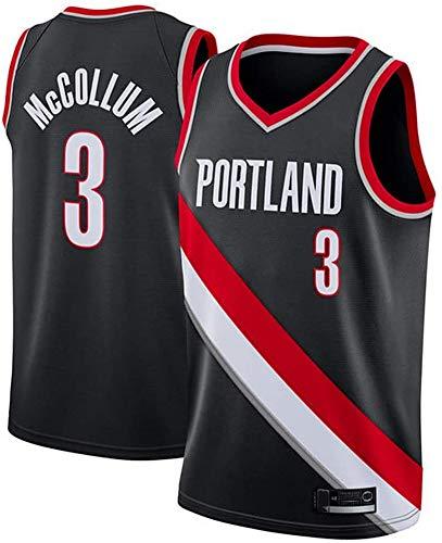 NBA Basketball tricot Portland Trail Blazers 3 # Basketbalvest van ademende jersey Mccollum mouwen voor heren