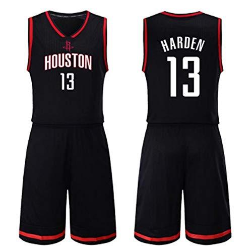 ZSPSHOP Vestiti di Basket NBA Seme Maschile, Houston Rockets Maglie, Harden 13, No. 3 Paul (Color : Black13, Size : S)