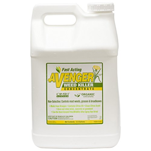 AVENGER Organic Weed Killer, biodegradable, non-toxic – Concentrate 2.5 Gallon