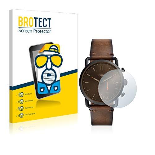 BROTECT 2X Entspiegelungs-Schutzfolie kompatibel mit Fossil Q Commuter Bildschirmschutz-Folie Matt, Anti-Reflex, Anti-Fingerprint