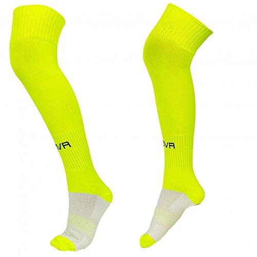 Givova, chaussettes foot, jaune fluo, MONSIEUR