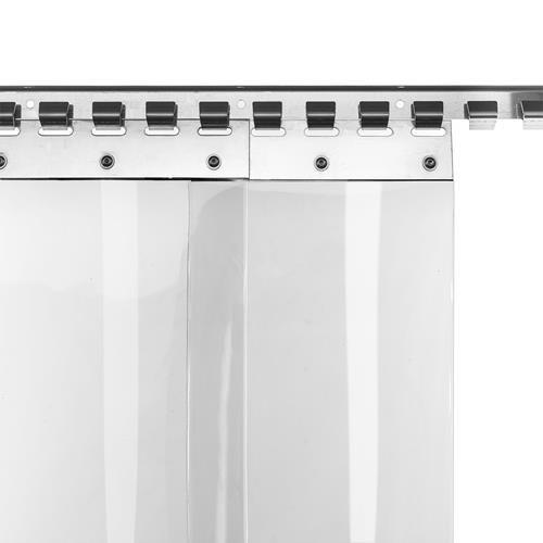 Cortina de láminas de PVC de 20cm de ancho, disponible en varios tamaños