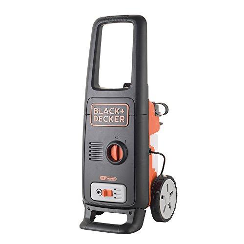 Black+Decker BXPW1600PE Idropulitrice ad Alta Pressione (1600 W, 125 Bar, 420 l/h) con Patio Cleaner e Spazzola Fissa, 230 V, Nero/Arancione, Plus