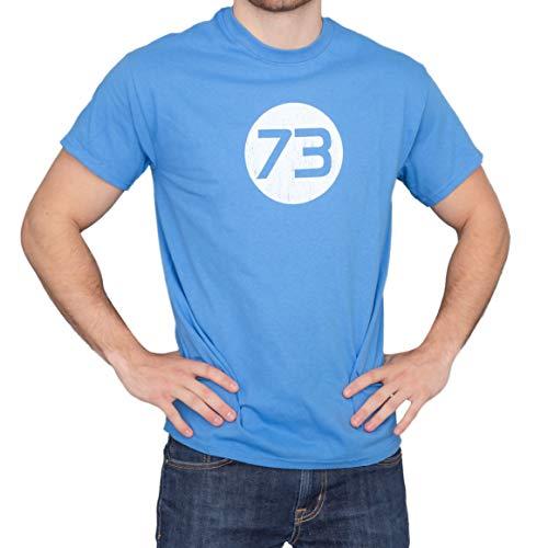 The Big Bang Theory Sheldon 73 Light Blue Adult T-Shirt (Adult X-Large)