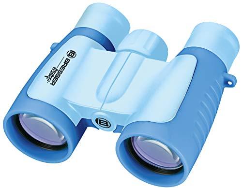 Bresser Prismáticos Infantiles (3 x 30), Color Azul Claro