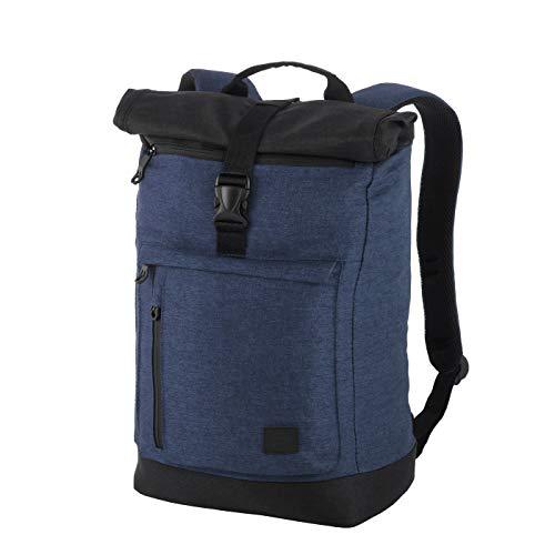 Rada Rucksack RS/38, Freizeitrucksack mit Laptop/Tablet-Fach, DIN A4 Ordner kompatibler Kurierr-Bag für Mädchen und Jungen, wasserabweisender Daypack, Damen und Herren (blau)