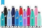 KollyKolla Bottiglia Acqua in Acciaio Inox, 650ml Senza BPA Borraccia Termica, Isolamento ...