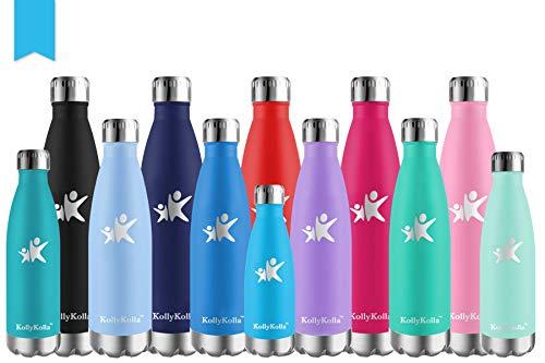 KollyKolla Botellas de Agua Acero Inoxidable Termos Sin BPA Deportes Reutilizables Water...