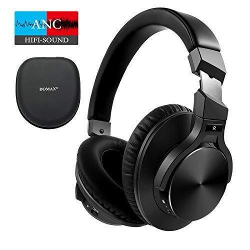 Bluetooth Kopfhörer Kabellos Noise Cancelling - DOMAX NC70 Bluetooth 5.0 Over Ear Headsets mit Type-C Blitzladen Wireless Kopfhörer 40 Stunden Spielzeit CVC 8.0 Schwarz