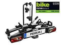 EUFAB 11521 Bagażnik tylny Premium ll do holownika, odpowiedni do rowerów elektrycznych