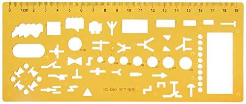 RTUTUR Geometrische Elektriker Schalungen Vorlage Lineal Schablone Zeichenwerkzeug Mess