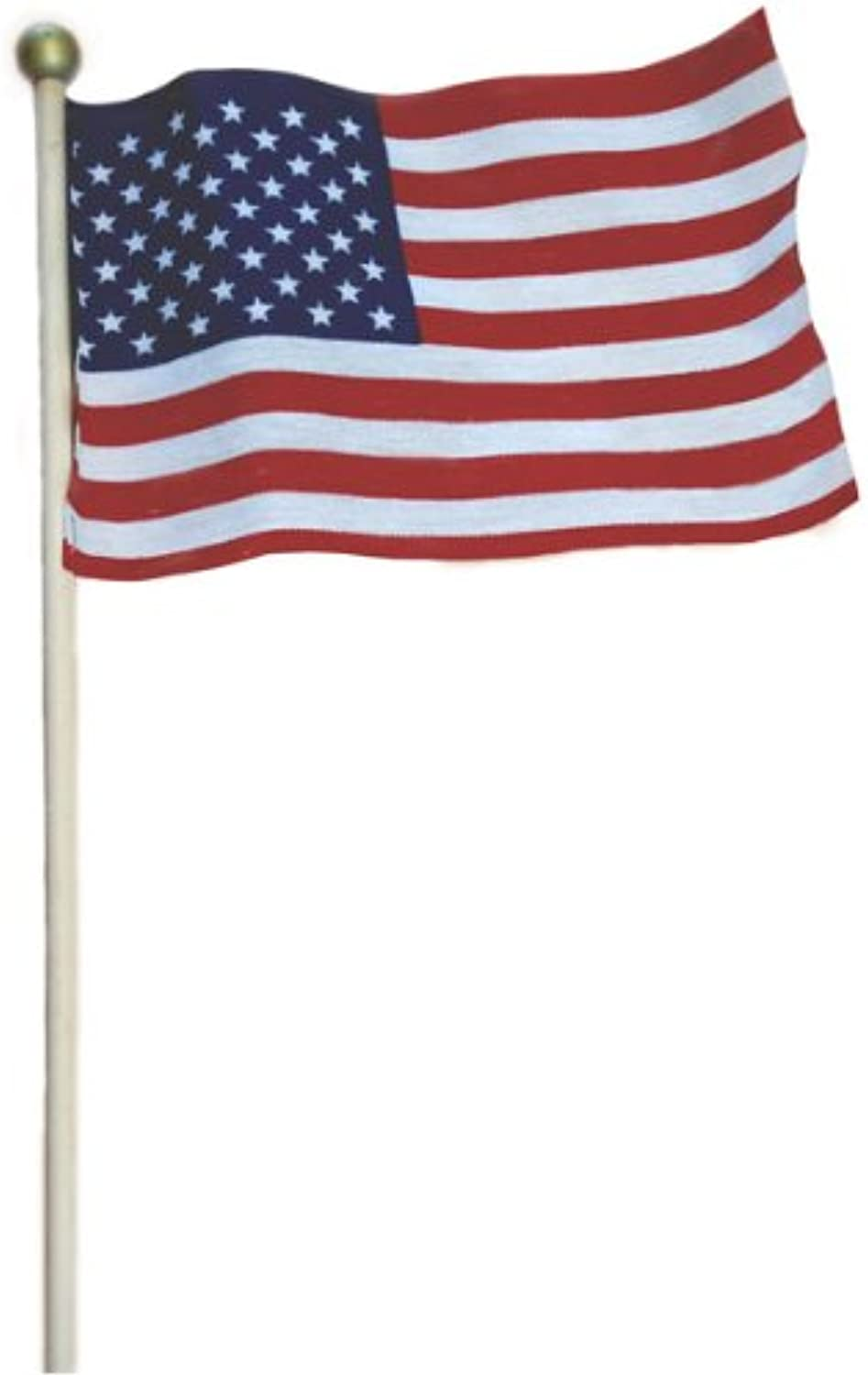 Valley Forge USE4B 12 Pack of 4x6 Inch American Made US Stick Flags
