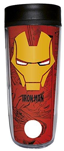 Grupo Erik Editores Gobelet de Voyage Marvel Iron Man, Porcelaine, Rouge, 20 x 8 x 20 cm