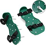 Sucastle Lawn Aerator Shoes,26 Spikes Sandals Buckles with Straps Adjustable Easy Assembled Heavy Duty Spiked Shoes for Yard Garden,8 Straps Full Assembled Sturdy Fits Everyone's Size